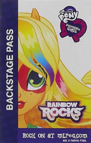 Applejack Equestria Girls Rainbow Rocks Backstage pass
