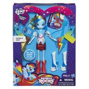 Rainbow Rocks Rainbow Dash Stamp Doll packaging