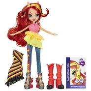 Rainbow Rocks Sunset Shimmer Fashion Doll