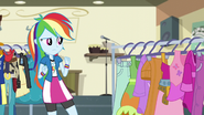 Costume rack appears in front of Rainbow EG3