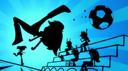 Silhouette of Rainbow Dash kicking a soccer ball EG2