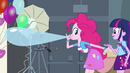Pinkie Pie blowing up a balloon EG