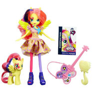 Rainbow Rocks Fluttershy Doll and Pony Set