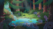 Legend of Everfree background asset - deep forest