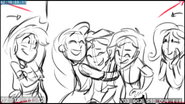 EG3 animatic - Rarity hugging Sunset