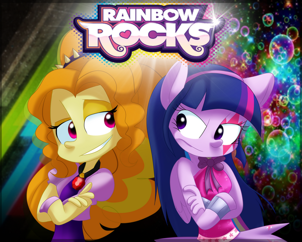 File:FANMADE Rainbow Rocks Adagio and Twilight art.png
