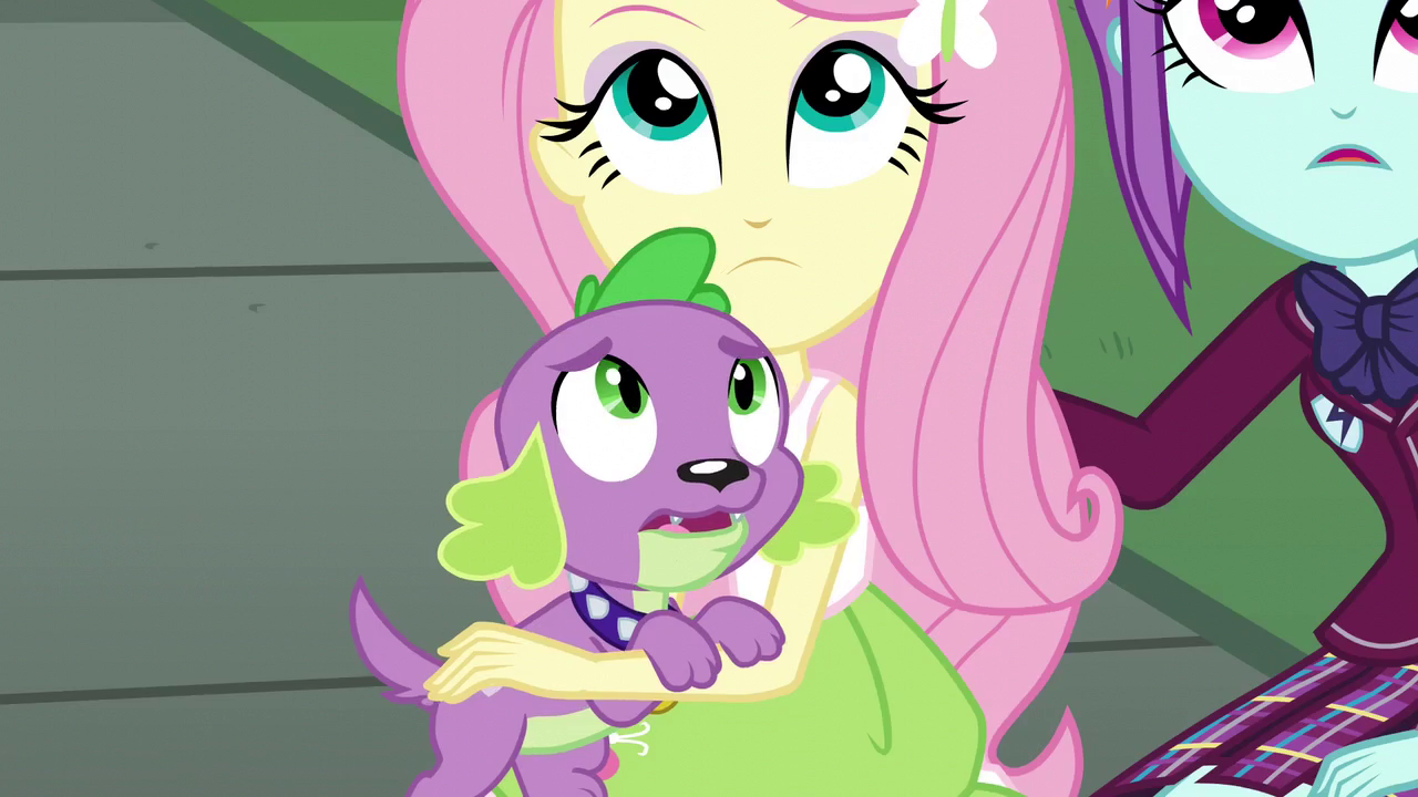 Image  Puppy Spike seeing the battle EG3png  My Little Pony
