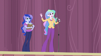"Principal Celestia ""the games only happen every four years"" EG3"