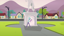 Mysterious figure circling the statue EG3