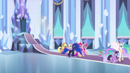Celestia leads the Mane Six to the mirror chamber EG