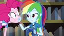 Rainbow puts her hand on Pinkie's face EG3