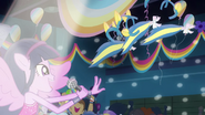 Twilight distributes pony ears and tails EG2