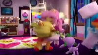 Fluttershy tossing her pillow EGM4