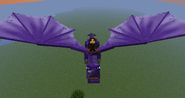 Flying purple dragon
