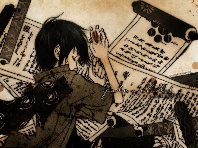File:Scroll nabari no ou anime boy scrolls black hair miharu rokujou desktop 1024x768 wallpaper-40221.jpg