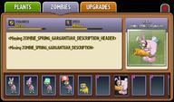 Spring Gargantuar Almanac Entry