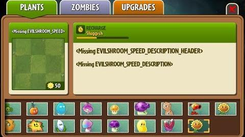 Evil-shroom Speed - Scrapped Dark Ages Plants - Plants vs