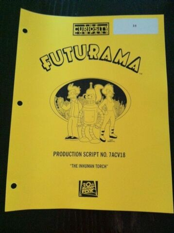 Archivo:The Inhuman Torch production script.jpg
