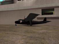 Avion chocado en la Base Naval de San Fierro.