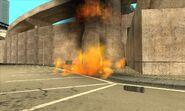 Columna en llamas