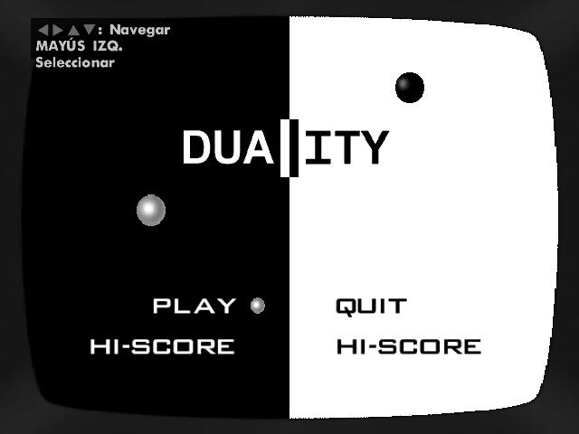 Archivo:Menú principal del Duality.PNG
