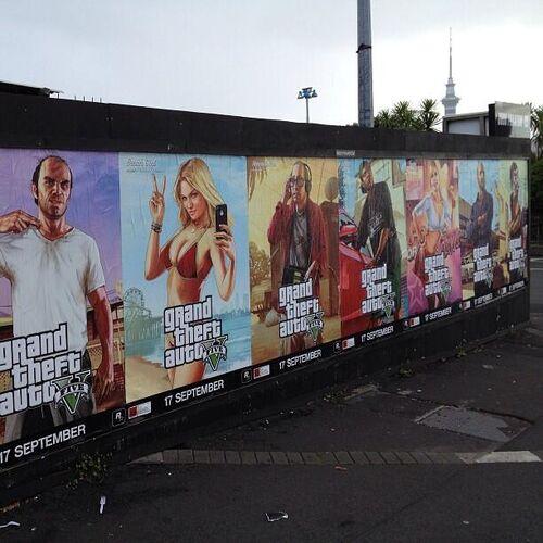 Artworks de GTA V publica