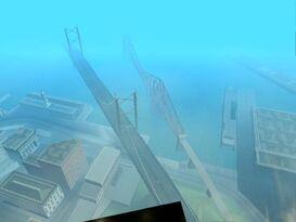 Vista aérea del Puente Kincaid y del Garver Bridge