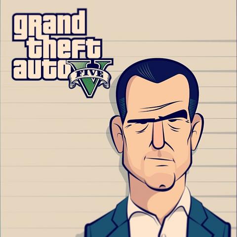 Archivo:GTA V Fan Art - Michael De Santa sketch.png