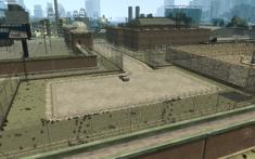 Penitenciaría Alderney Playa de estacionamiento interna