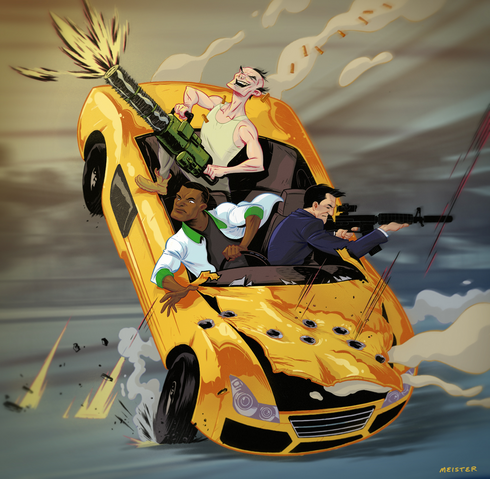 Archivo:Grand Theft Auto V Fan Art - Business as Usual.png