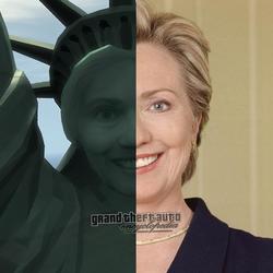 Hillary Estatua Felicidad