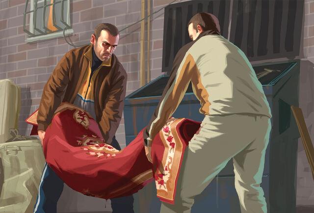 Archivo:Niko bellic tirando un cuerpo.jpg