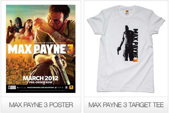 MaxPayne 3 - Poster Camiseta