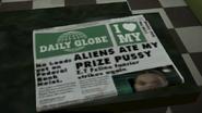 Un periódico del Daily Globe en GTA V
