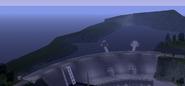 Vista de los limites de la represa