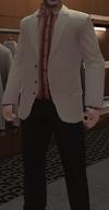 Chaqueta sport crema pantalones carbón Perseus GTA IV