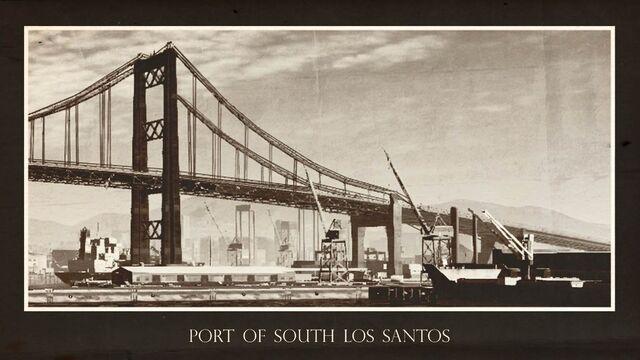 Archivo:Postal del puerto sur de Los Santos.jpg