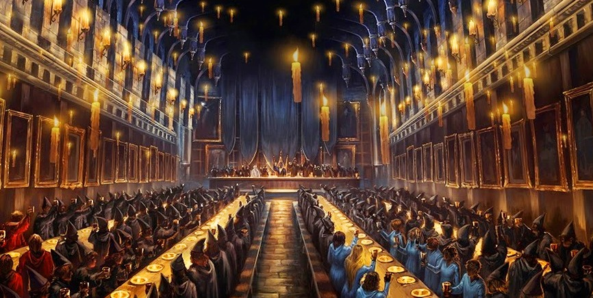 Ceremonia conmemorativa a cedric diggory harry potter for Comedor harry potter