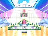 EP495 Escenario del concurso Pokémon de Aromaflor