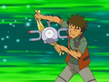EP557 Brock frotando a Magnemite
