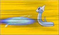 Dratini recibiendo ataque en XY