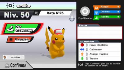 Figura amiibo de Pikachu en Super Smash Bros. para Wii U