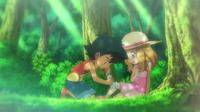 EP811 Ash ayudando a Serena