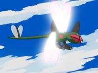 EP588 Yanmega usando ala de acero