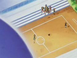 Campo de batalla del Gimnasio de Azulona en el anime