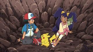 Archivo:EP663 Ash e Iris cayendo en un agujero.jpg