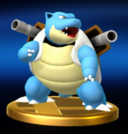 Trofeo de Blastoise SSB4 Wii U
