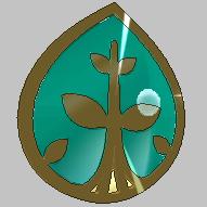Medalla Hoja