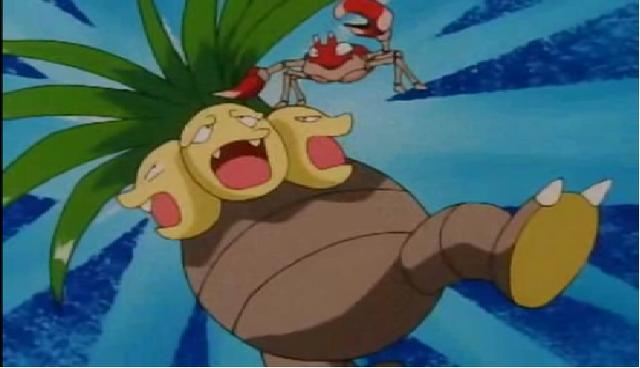 Archivo:EP077 Krabby de Ash utilizando agarre contra Exeggutor de Mandi.png