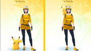 Pikachu en el hombro de un entrenador en Pokémon GO.jpg